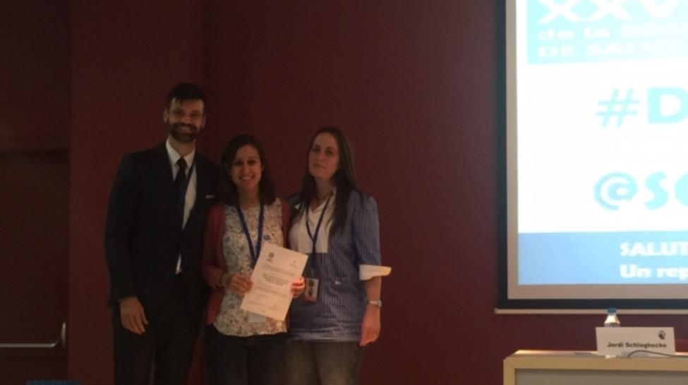 Premio a la mejor comunicación en la jornada de la Sociedad Catalana de Medicina del Trabajo